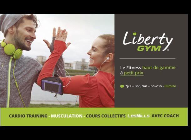 Abonnement de 12 mois à  la salle Liberty Gym de Mulhouse Kingersheim - Via Applications Mobiles