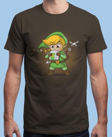 T-shirt Zelda Cartridge of Time Marron - Tailles au choix