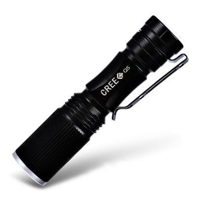 Lampe de poche Cree XPE Q5 - 600lm, Noir