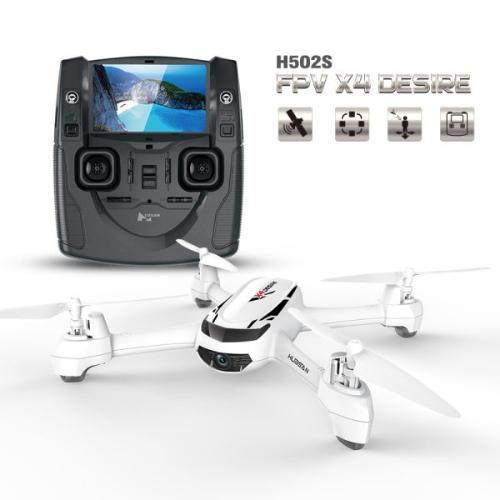 Drone Hubsan H502S (720p, GPS intégré, télécommande à retour vidéo)