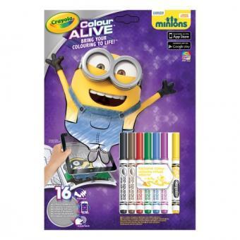 Kit créatif Crayola Color Alive Les Minions