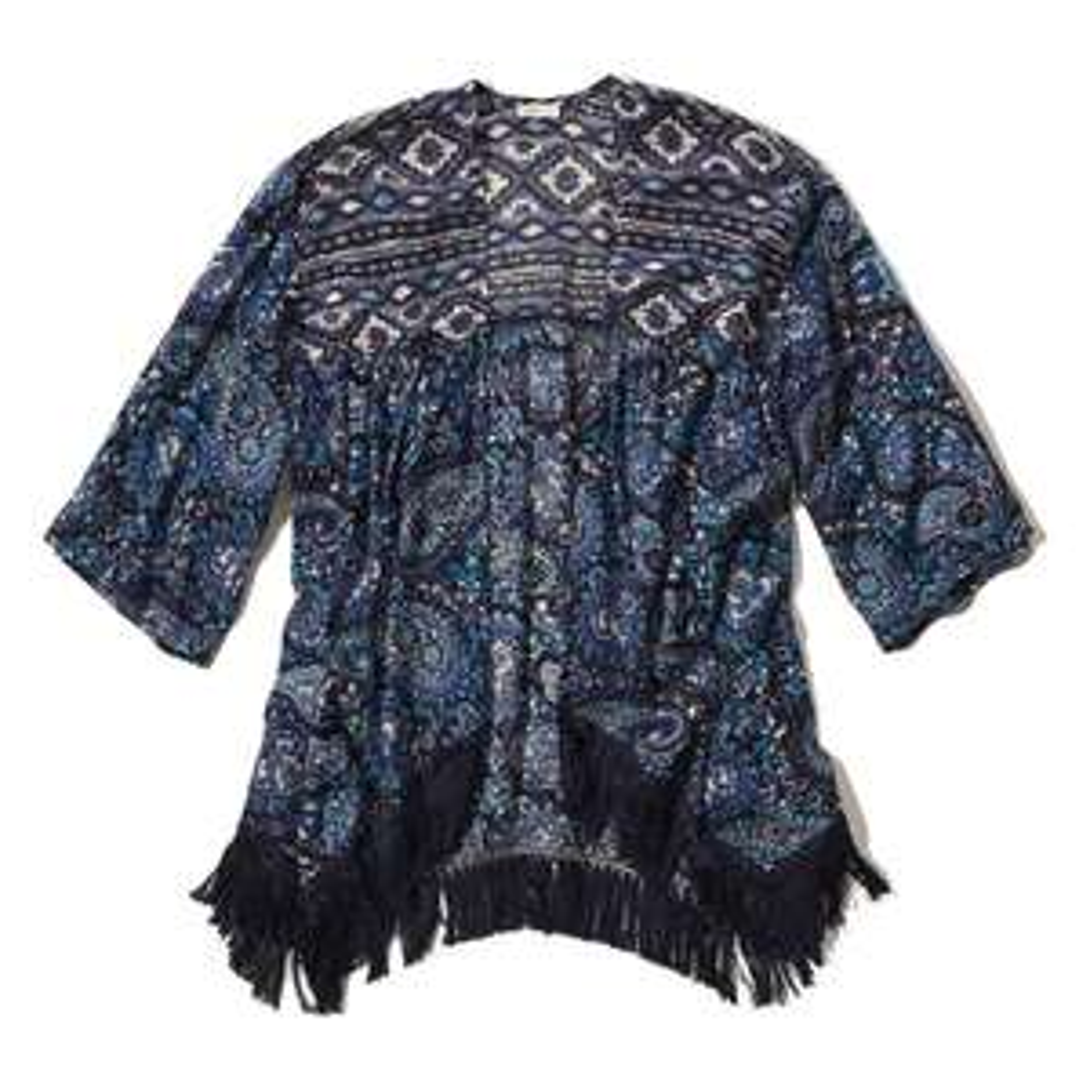 Kimono ouvert avec Imprimé à franges