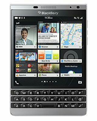 "Smartphone 4.5"" BlackBerry Passport Silver Edition - 32 Go ROM, 3 Go RAM, Snapdragon 801, QWERTZ"