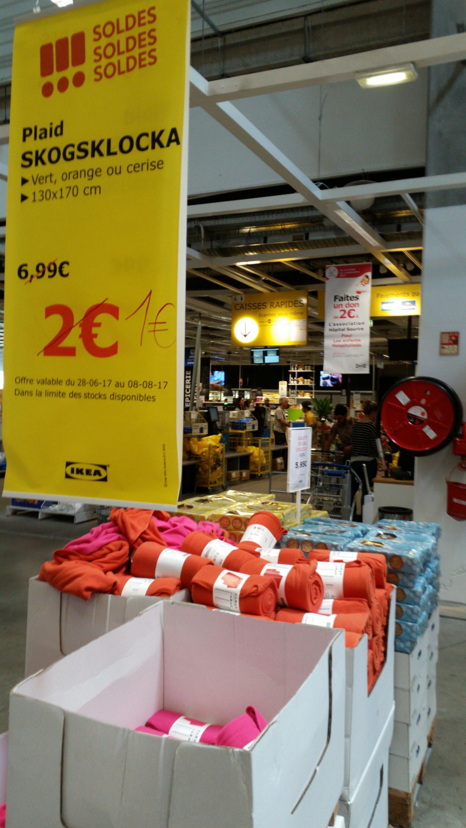 [Ikea Family] Plaid Skogsklocka - 130x170cm, Plusieurs coloris
