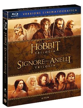 Coffret Blu-ray Le Hobbit (VO + VF) + Le Seigneur des Anneaux (VO uniquement) - 6 Disques