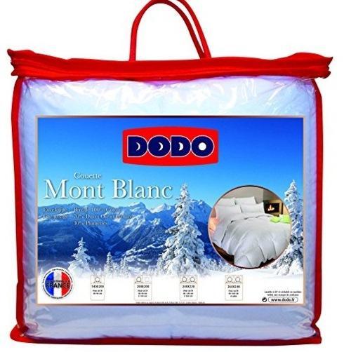 Couette Naturelle Dodo Mont Blanc Percale - 70% Duvet d'Oie et de Canard, 260 x 240cm