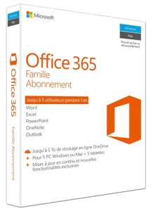 Logiciel Microsoft Office 365 Home - 1 an - 5 personnes