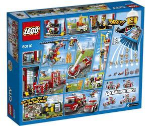 Jouet Lego City - La caserne des pompiers (60110)