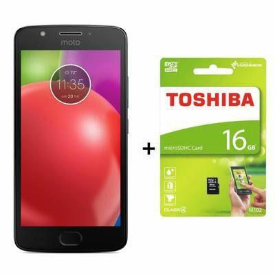 """Smartphone 5.5"""" Lenovo Moto E4 Plus - HD, RAM 3 Go, ROM 16 Go, Double Nano SIM + Carte microSDHC Toshiba 16 Go"""