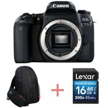 Appareil Photo Reflex Canon 77D nu + Sac à dos + carte SD 16 Go