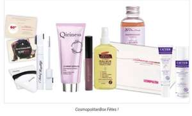 Cosmopolitan Box : 8 produits de beauté + Carte Cadeau Spartoo de 60€