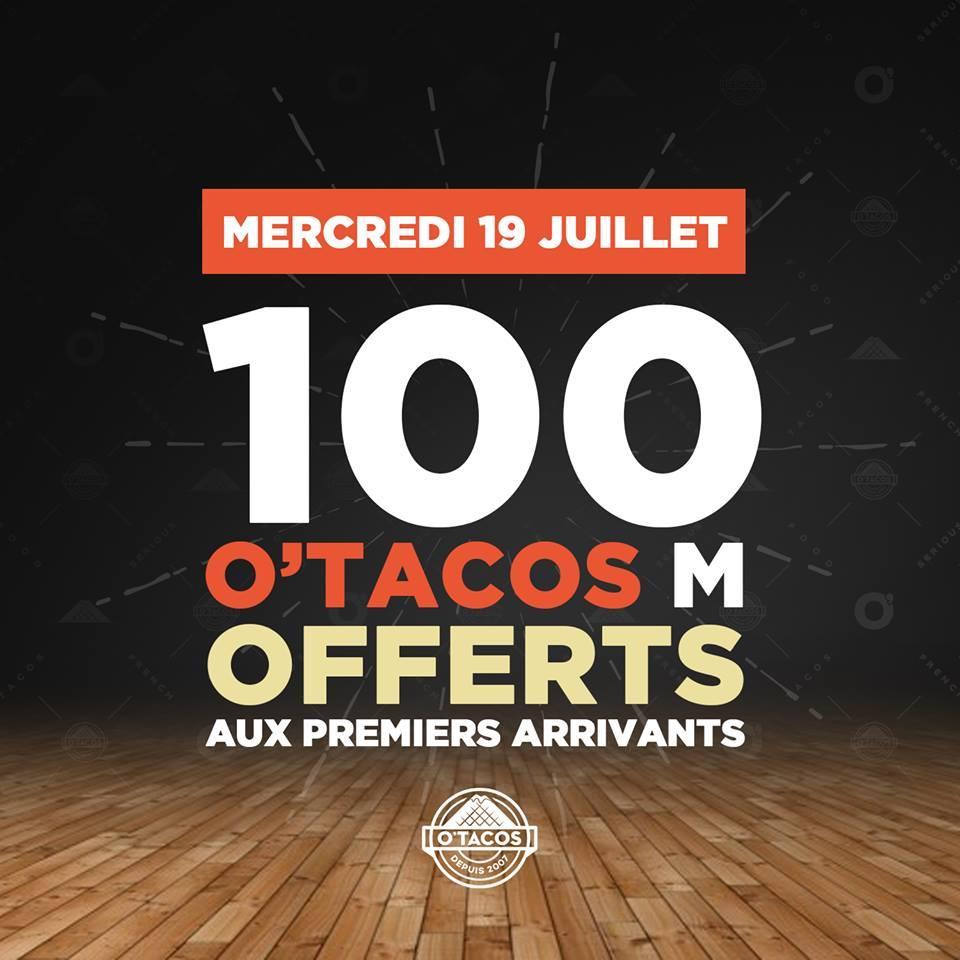 1 Tacos M offert pour les 100 premiers arrivants