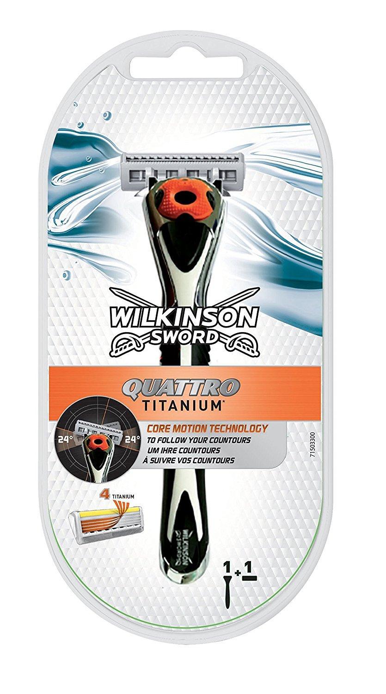 [Panier Plus] Rasoir pour homme Wilkinson Quattro Titanium Core motion