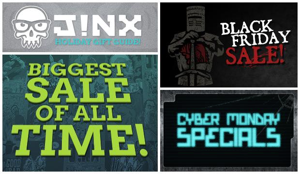 Cyber monday : 25% de réduction sur certains pack de produits (Vêtements, posters, porte-cléfs)