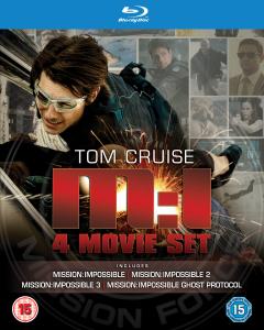 Coffret Blu-Ray Mission Impossible Quadrilogie