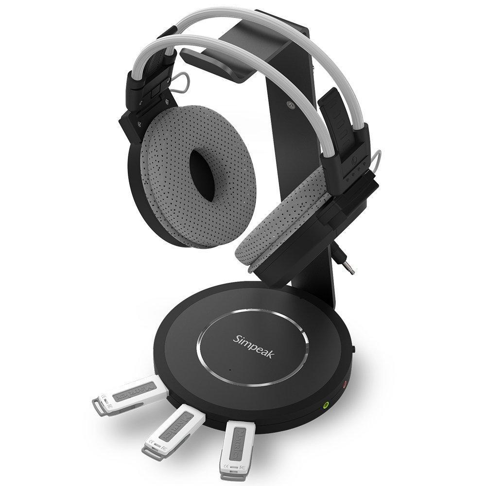 Support de casque avec hub usb3 et audio