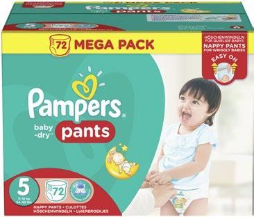 Mega pack de couches culottes pampers baby dry pants tailles au choix via 50 sur la carte - Couches pampers promotion ...