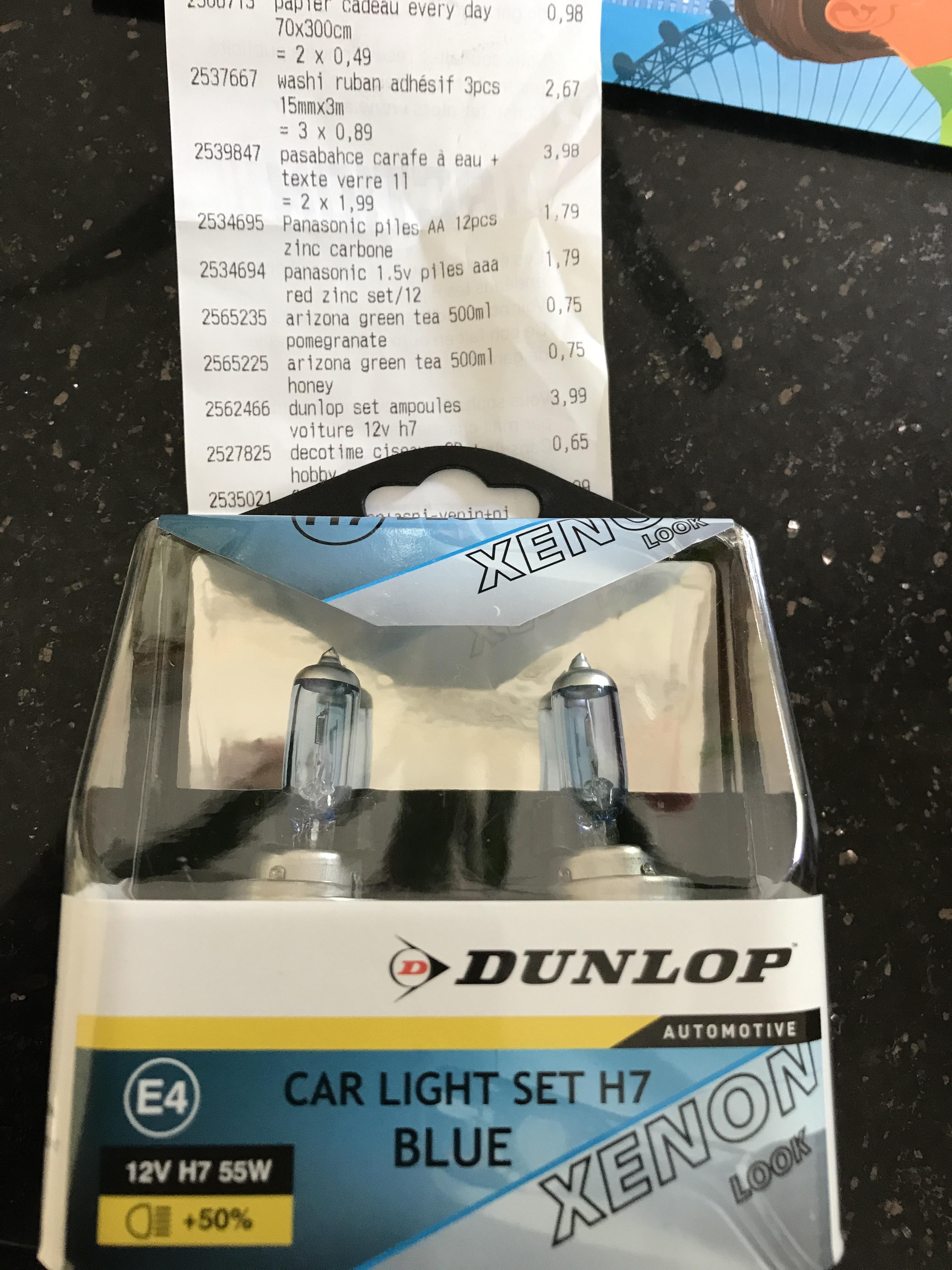 Kit 2 ampoules H7 Dunlop - Blue Xenon