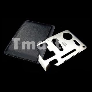 Outil multifonctions en métal  (taille carte de crédit)