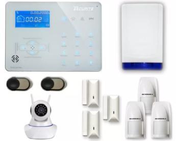 Alarme sans fil RTC/IP/GSM ICE-B + Caméra IP design 2