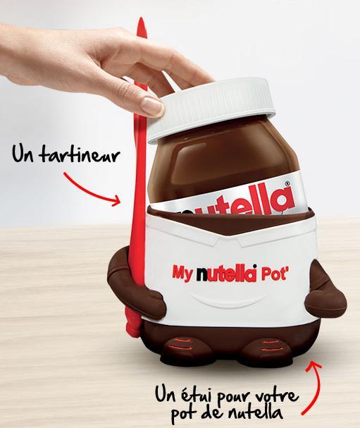 [Carte fidélité Carrefour] 1 étui + 1 tartineur offert pour l'achat de deux pots de Nutella de 950g chez Carrefour
