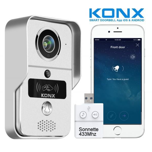Visiophone Konx KW02C (Ethernet ou Wifi) ( coloris Argent, Rose ou Or)