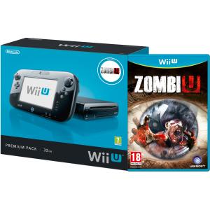 Console Nintendo Wii U Pack Premium 32Go + Zombie U ou Nintendo Land