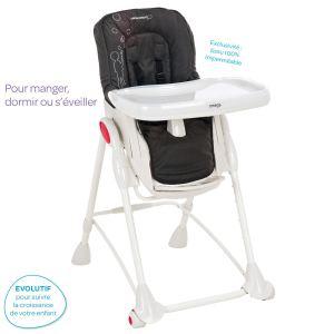 Chaise haute 3 en 1 évolutive Bébé confort Omega Poetic Black -2012