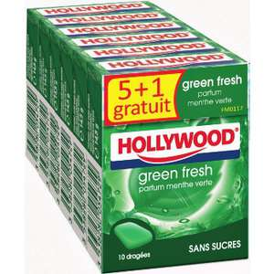 2 lots de 6 paquets de chewing-gum Hollywood