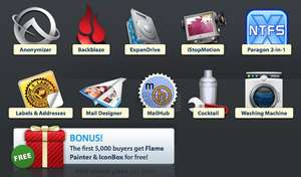 Bundle 10 logiciels (+2 bonus)  pour Mac OS X