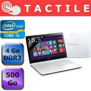 "PC portable Tactile 15"" Sony Vaio SVF-1521E2EW - i3 3217U 1,80 GHz - 500 Go - 4Go - Windows 8"