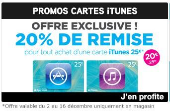 Carte iTunes d'une valeur de 25€