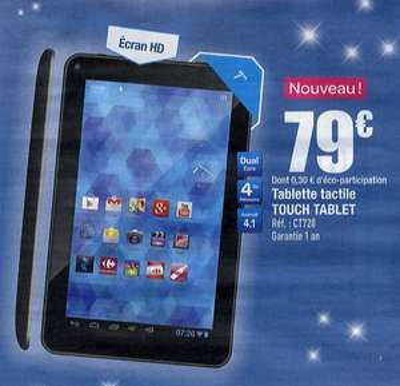 "Tablette tactile CT720 7"" Ecran HD Dual Core 1Go RAM"