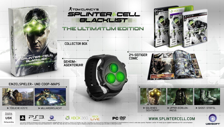 Tom Clancy's Splinter Cell Blacklist sur PS3 et PC - Edition Collector 5Th Freedom à 29.12€ et Ultimatum