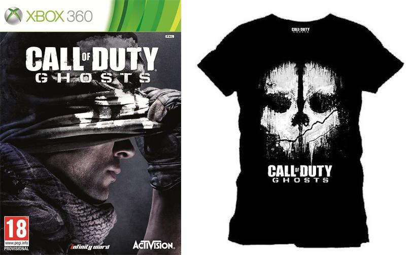 Call of Duty Ghosts sur PS3/XBOX + 1 Tee Shirt offert, seulement pour XBOX (Avec Cashback Skyrock de 10€)