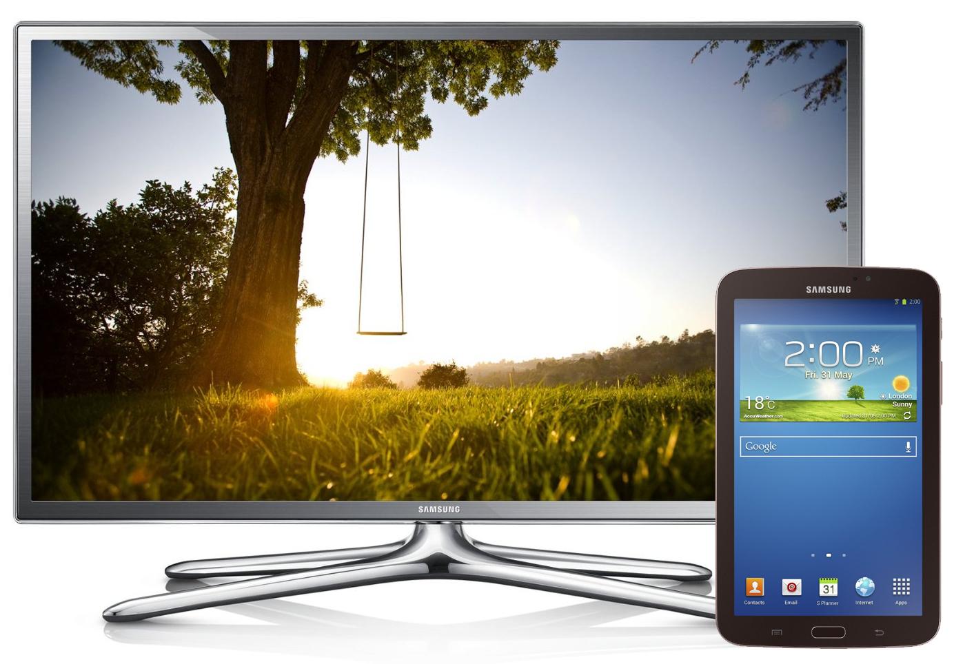 """TV LED 46"""" Samsung 46F6400 3D Full HD, Wi-Fi + Tablette Samsung Galaxy Tab 3 7"""" 8 Go"""