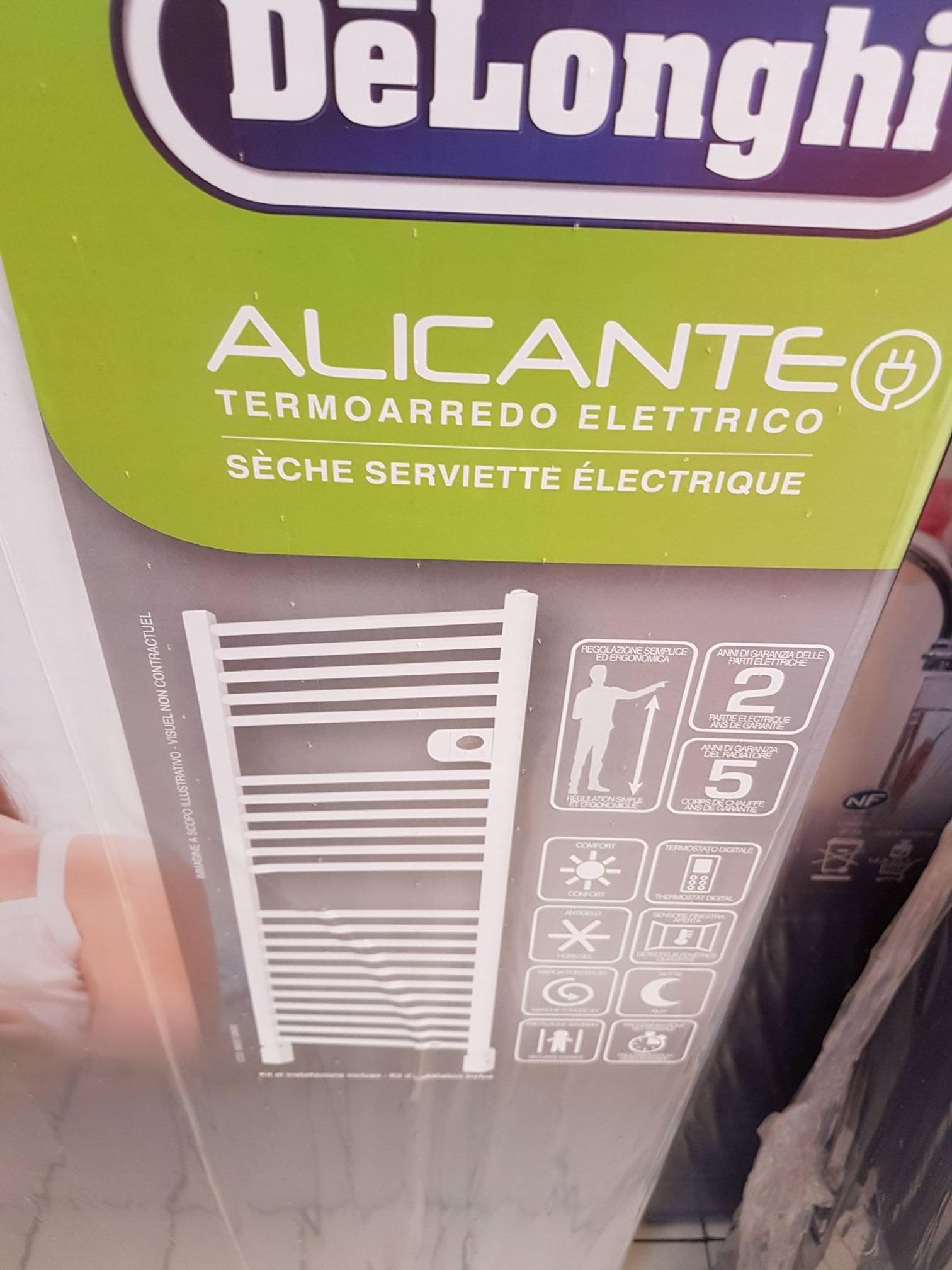 Sèche serviette Delonghi Alicante - 500W, Blanc