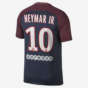 Maillot de football du PSG avec flocage junior Neymar