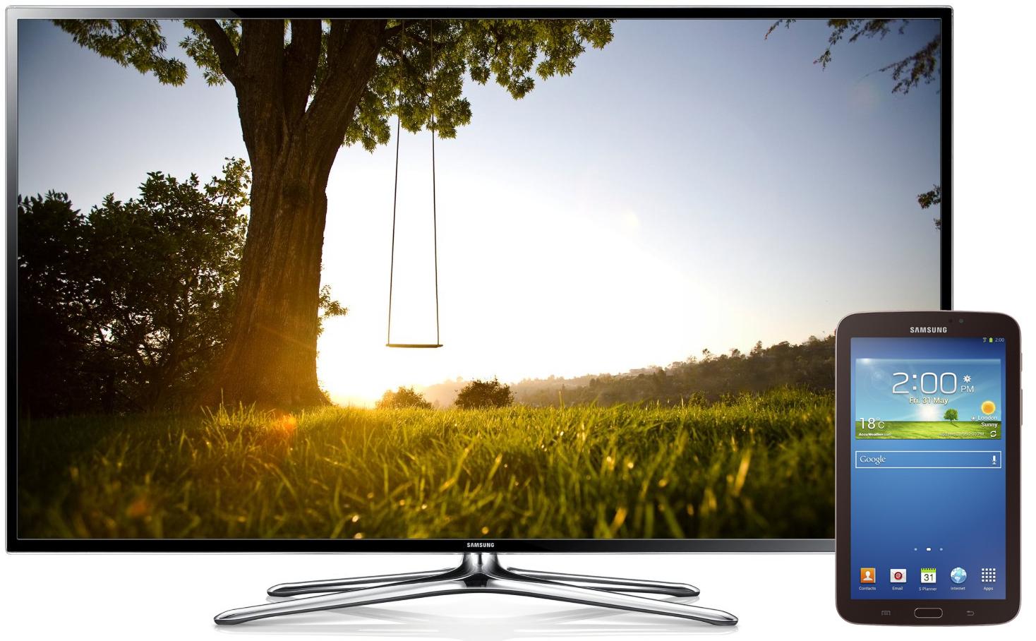 "TV 3D 55"" Samsung 55F6400 Full HD, Smart TV + Tablette Samsung Galaxy Tab 3 7"" 8 Go"
