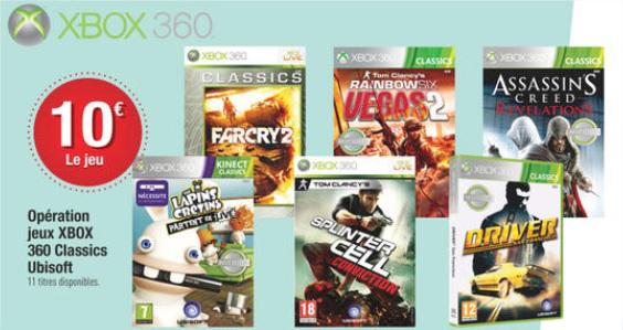 Sélection de Jeux Ubisoft Classic sur Xbox 360