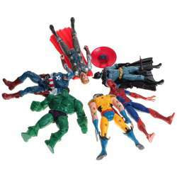 lot de 6 figurines marvel dc