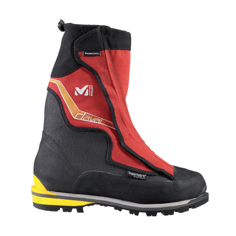Chaussures d'alpinisme hivernal Millet Davai - Noir/Rouge (tailles 40 2/3 à 42 2/3)