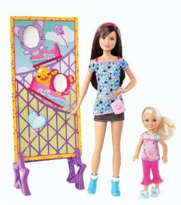 Barbie Poupée - Skipper et Chelsea au Parc d'attraction