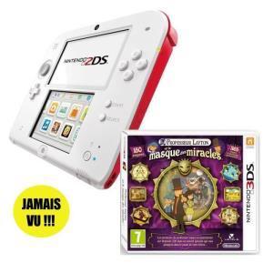 """Console Nintendo 2DS + jeu """"Professeur Layton et Le Masque des Miracles"""""""