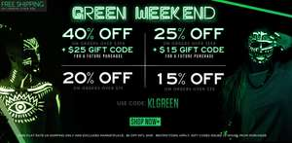 """Green Weekend : jusqu'à -41% sur tout le site (vêtements """"américains"""")"""