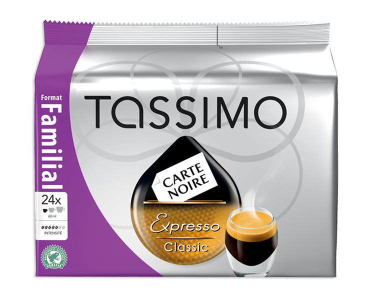 """3 paquets x24 Tassimo Carte Noire Expresso Classic (ou Voluptuoso ou """"petit dej"""")"""
