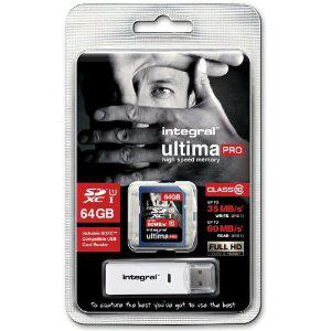 Carte mémoire SDXC 64Go Integral Ultima Pro
