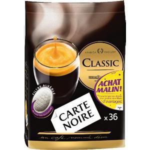 3 packs de 36  dosettes café Carte Noire