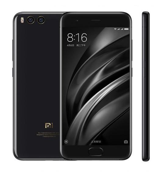 "Smartphone 5.15"" Xiaomi Mi6 Noir - Snapdragon 835, RAM 6 Go, ROM 128 Go (Sans B20)"
