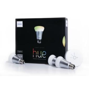 3 Ampoules à lumière connectée + kit de connexion Philips Hue (Contrôler vos luminaires depuis votre smartphone)